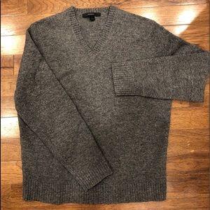 Express V Neck Lambs Wool Sweater